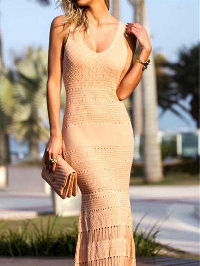 Bohemia Crochet Beach Maxi Dresses