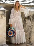 Presale Split-side Flared Sleeve Maxi Dress