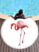 Super Fine Fiber Flamingo Printed Beach Mats