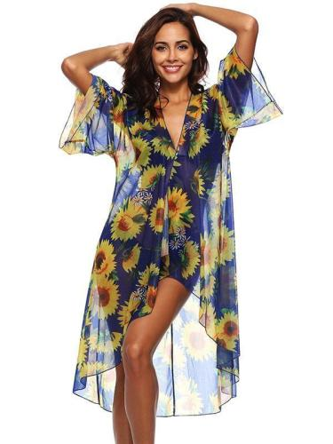 Fashion Flared Sleeves Cover-Up
