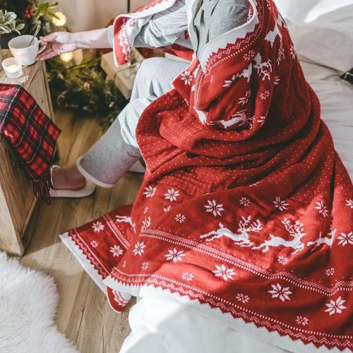 Christmas Snowflake Throw Blanket