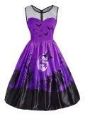 1950s Halloween Patchwork Dress