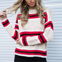 Casual Striped Knitted Sweater