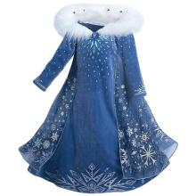 Girls Deluxe Snow Princess Fancy Cosplay Dress Adventure Costume Party Dress Up