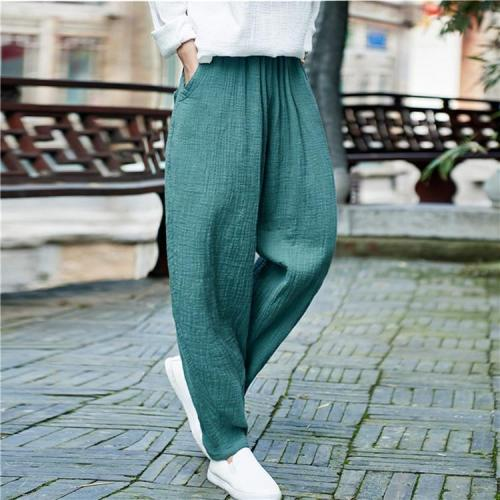 Vintage Pleated Linen Pants