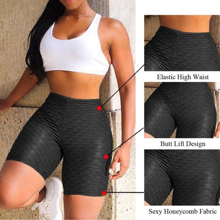 New Yoga Running Leggings Women Athletic Shorts High Waist Yoga Shorts 2020 Tummy Control Fitness Gym Sports Trousers