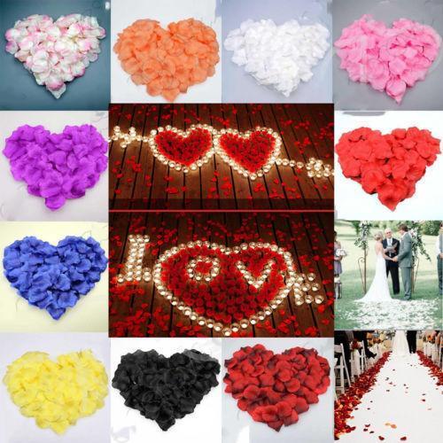 100PCS Rose Artificial Flower Bride To Get Married Decoration Petal Table Flower Bachelor Party Proposal Romantic Decoration