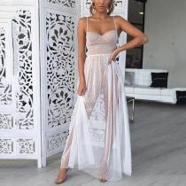 Fashion Sexy Polka-Dot Maxi Dress