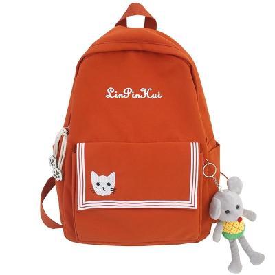 Female Nylon Cute Backpack Plaid Striped Student Women Girl School Bag Fashion Backpacks Kawaii Ladies Harajuku Bag book Teenage