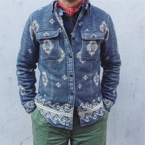 Autumn And Winter Lapel Print Jacket