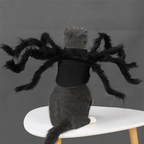 Halloween Pet Products Pet Cosplay Spider Costume Dog Cat Spider Party Clothes