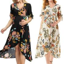 2020 Summer Casual Maternity Floral Dresses Nursing Pregnancy Dress Clothes Pregnant Women Sundress Mama Breastfeeding Dresses