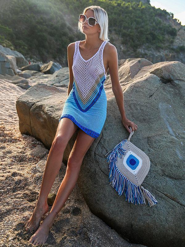 Hollow Sexy Knitting Bohemia Cover-ups Swimwear
