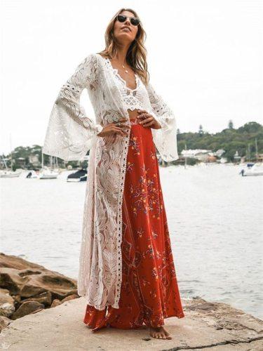 Beach Dress, Cover Up, Kaftan Dress, Lace White Annabelle
