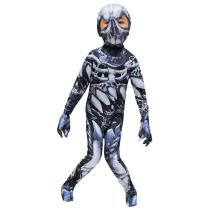 Kids Halloween Jumpsuit Skull Skeleton Bone Bodysuit 3D Print Funny Skinny Stretch Costume