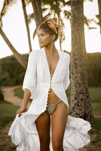 Beach Dress, Cover Up, White Isabella