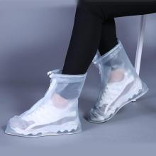 1 Pair PVC Shoes Cover Reusable Waterproof Anti Dust Rain Boots Outdoor Non Slip Thick Shoes Protection Shoe Covers Zipper