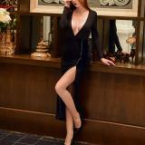 Fashion Sexy V-neck Evening Dress