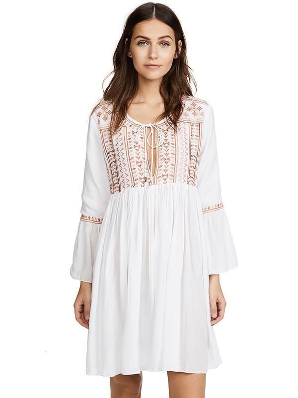 Royan Embroidered Cover-up Swimwear
