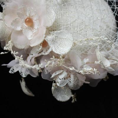 Vintage Women's Bridal Hats and Fascinators with Comb Ivory Bridal hair Accessories 2020 Spring Party Gifts