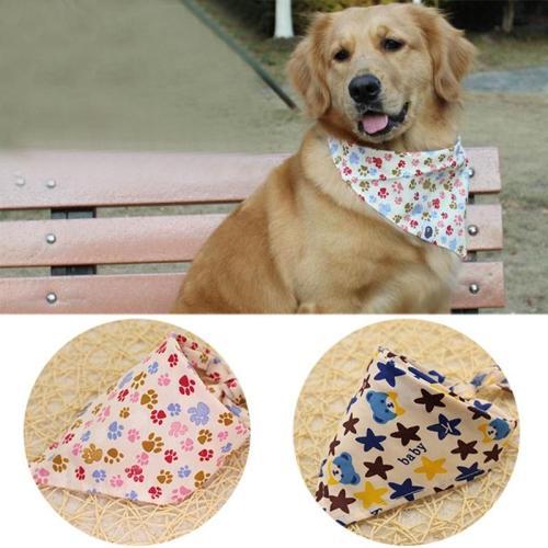 Adjustable Breathable Cotton Pet Cat Dog Puppy Neck Dog Scarf Collar Neckerchief Pet Cat  trigon Collars Scarf Accessories