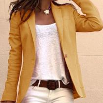 Fashion Casual Lapel Long Sleeves Jacket