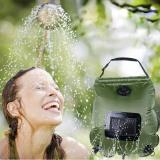 20L Portable Solar Heated Water Bag Energy Heated Bathing Outdoor Camping Shower Bag Picnic Water Bag Hiking Water Storage