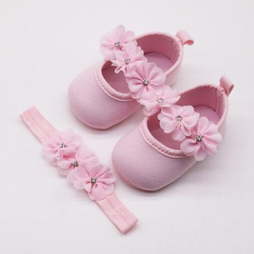 2020 Fashion Baby First Walker Shoes Kids Girls Baby Party Ballerina Shoes Infant 3D Flower Rhinestone Casual  Shoes