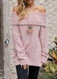 Elegant Off Shoulder Hairy Sweater