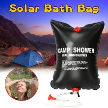 20L Solar Heated Water Bag Heated Bathing Outdoor Camping Shower Bag Picnic Water Bag Hiking Water Storage