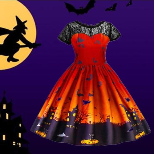 Halloween Cosplay Dress For Girls Christmas Carnival Princess Costume Lace Backless Dress For Kids Children Birthday Party Cloth