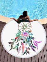 Beautiful Superfine Fiber Round Beach Mats