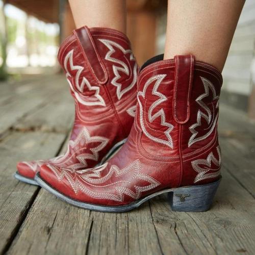 Fashion Chunky Heel Large Size Women Boots