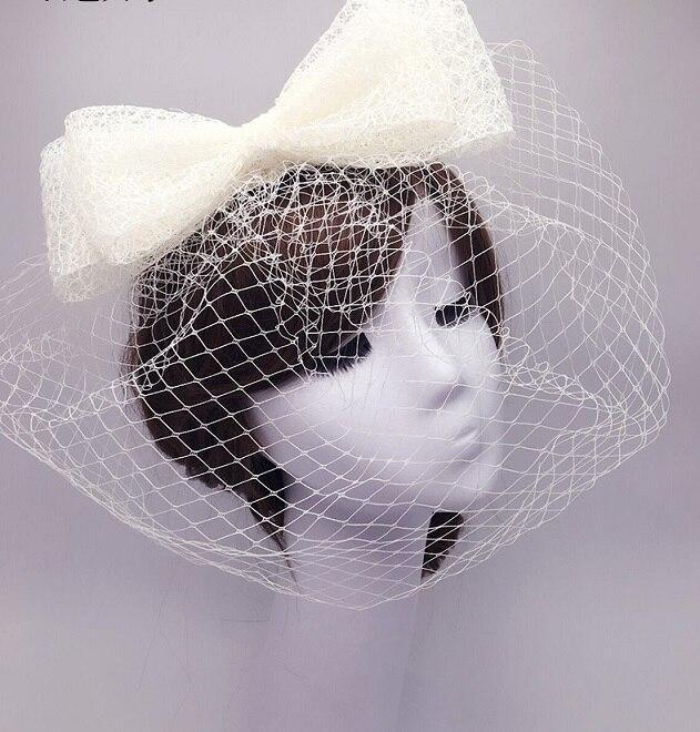 2020 Vintage Black Wedding Hats and Fascinators Net Bow Bridal Party Gift for Women Wedding Accessories