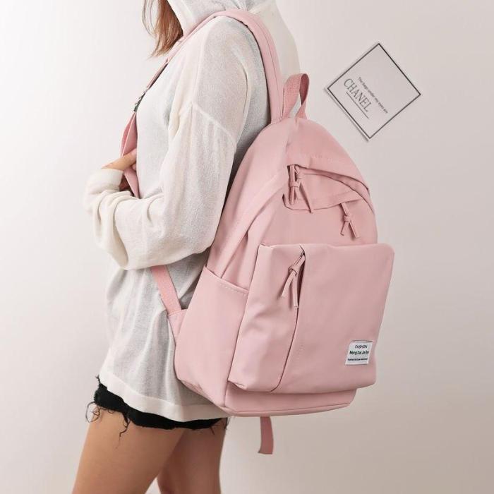 New Harajuku Backpack For School Teenagers Girls Cute Letter Waterproof Designer Travel Laptop Backpack Women Notebook Back Pack