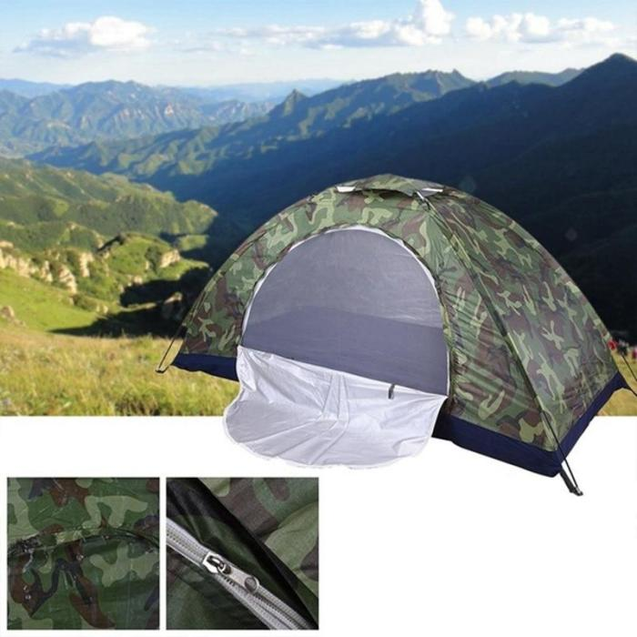 1 Person Portable Outdoor Camping Tent Outdoor Hiking Travel Camouflage Camping Napping Tent