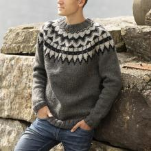 Mens Casual Round Neckline Striped Sweater TT004