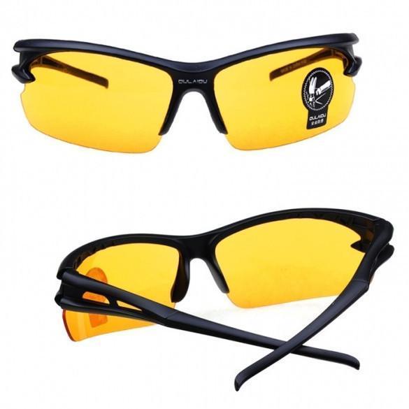 Cycling Riding Bike UV400 Sports Sun Glasses Night Vision Goggles