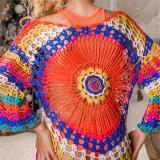 Beach Dress, Cover up, Knitted Crochet Hippie
