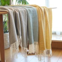 2020 New Home Car Aircondition Plaid Knitted Throw Blankets for Beds Knit Bed Runner Sofa Cover Blanket Bedspread Home Textiles