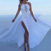 Fashion Sleeveless Sling Evening Dress