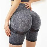 Slim Fit High Waist Yoga Sport Shorts Hip Push Up Women Plain Soft Nylon Fitness Running Shorts Tummy Control Workout Gym Shorts
