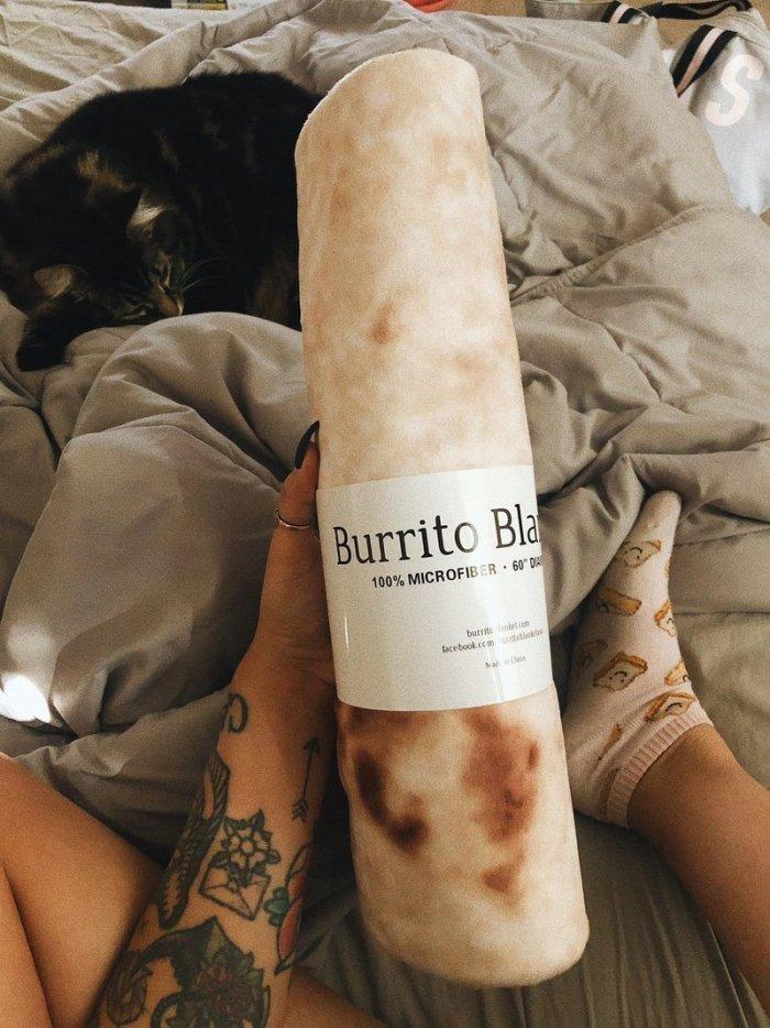 OFFICIAL BURRITO BLANKET- GIANT BURRITO / TORTILLA BLANKET