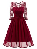 1950s Mesh Patchwork Swing Dress