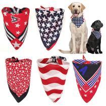 New Pet Dog Bandana Red White Blue Dog Soft Cotton Bandana Scarf Large Square Scarf For Middle Large Dog Bandana Collar Supplier