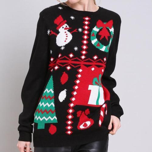 Christmas Tree Long Sleeve Knitting Sweater