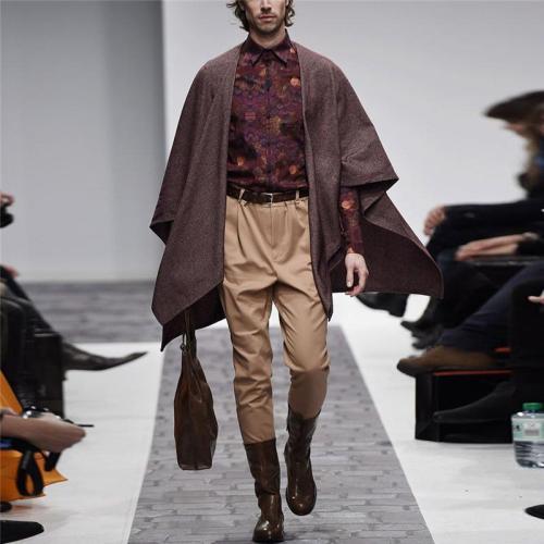 Men's Loose Solid Color Cloak