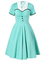 Light Green 1950s Swing Dress