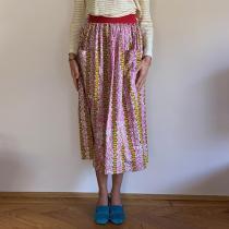 Women's Fashion Elastic Waist Print Dress RY58