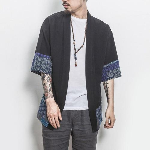 Kimono men Japanese kimono traditional samurai costume japanese clothing blouse shirt haori yukata men jacket